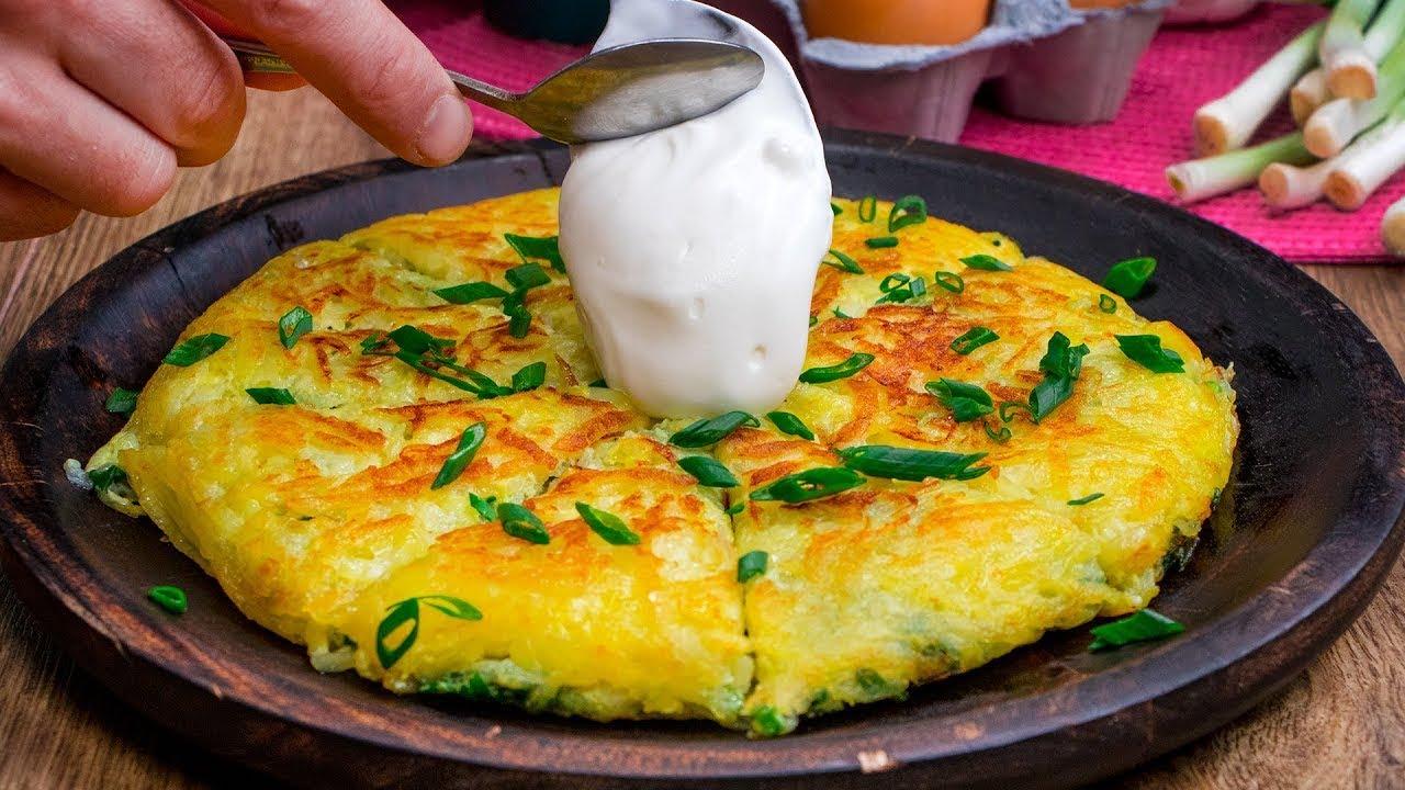 Turtă de ou (omletă cu ou cu faina)